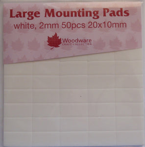 Woodware Large Mounting Pads - 2mm 50 pcs 20 x 10mm