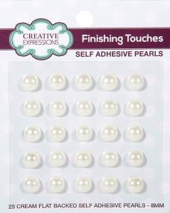 Creative Expressions Cream Self Adhesive Pearls - 8mm