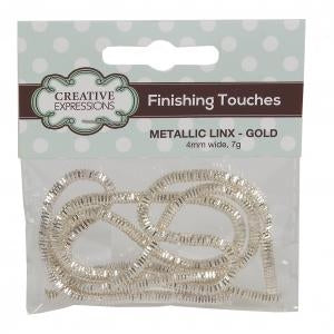 Creative Expressions Finishing Touches - Metallic Linx 4mm Gold