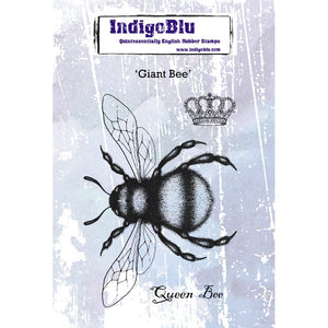 IndigoBlu Giant Bee A6 Red Rubber Stamp