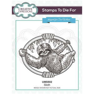 Creative Expressions Stamps to Die For - Sloth