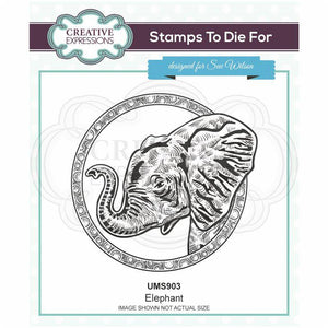 Creative Expressions Stamps to Die For - Elephant
