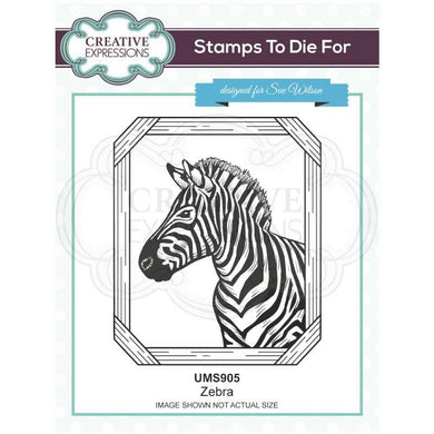 Creative Expressions Stamps to Die For - Zebra