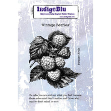 IndigoBlu Vintage Berries A6 Red Rubber Stamp Set