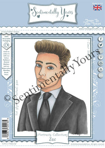 Trudie Howard Sentimentally Yours A6 Stamp - Portraits Collection : Zac