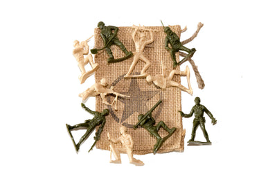 Little Green and Tan Army Men