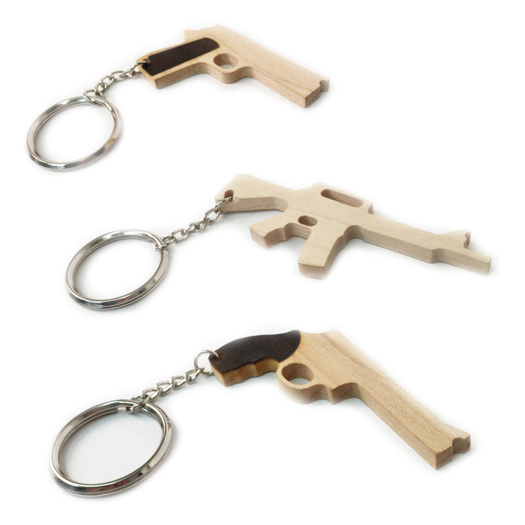 Rubber Band Gun Keychain - 3 Pack - Elastic Precision