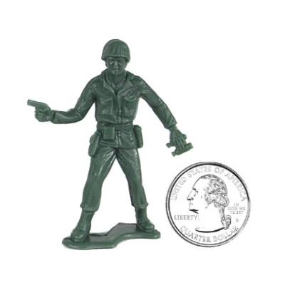 Little Green and Tan Army Men - Elastic Precision