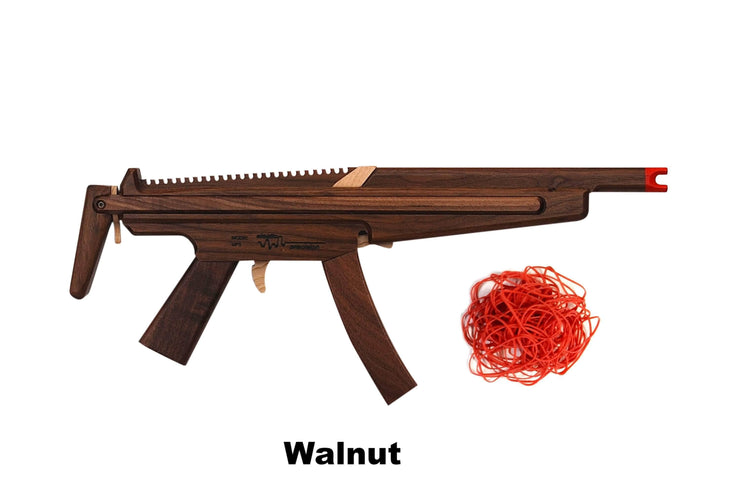 Model MP5 Rubber Band Machine Gun with Sliding Stock - Elastic Precision