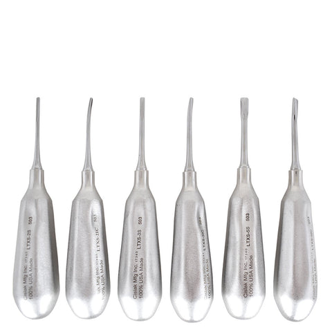 6 Piece Luxator Kit (Straight & Inside Curved)