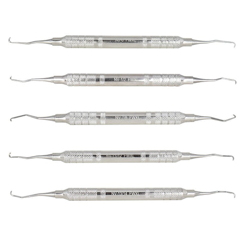 "5 Piece ""NV"" Feline Curette Kit"