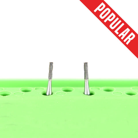 Shop online at Serona.ca for the veterinary dental Brasseler FG Flat-End Cross-Cut Fissure Burs. Available in various head sizes with a shank size of 19 mm.
