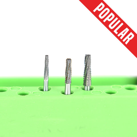FG Long Flat-End Taper Cross-Cut Fissure Burs