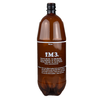Shop online for the veterinary dental iM3 2L Amber Coolant water bottle that is suitable to hold a chlorhexidine solution such as iM3 CLS Solution or water.