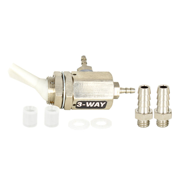 Replacement On/Off Toggle Valve, 3 Way, Gray