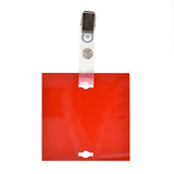 "Veterinary dental Write-Boards™ Cage Tags - 3"" x 3"" in red."