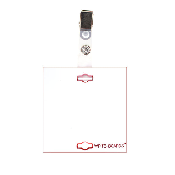 "Veterinary dental Write-Boards™ Cage Tags - 3"" x 3"" in white."