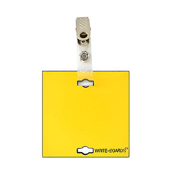 "Veterinary dental Write-Boards™ Cage Tags - 3"" x 3"" in yellow."