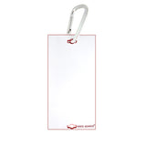 "Veterinary dental Write-Boards™ Cage Tags - 3"" x 6"" in white."