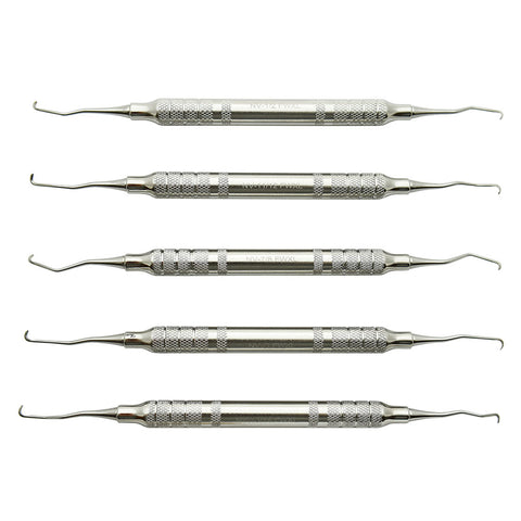 "Cislak 5 Piece ""NV"" Feline Curette Kit w/ Cassette"