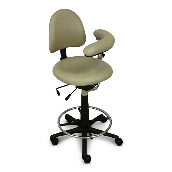 Shop online for the veterinary dental RGP Assistant Stool with an active seating, a dual lever, fully adjustable seat cushion, a backrest cushion, and more!