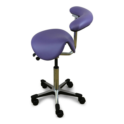 Shop online for the veterinary dental RGP Straddle Assistant Stool with a dual lever mechanism, a saddle seat cushion, belly bar abdominal support, & more!