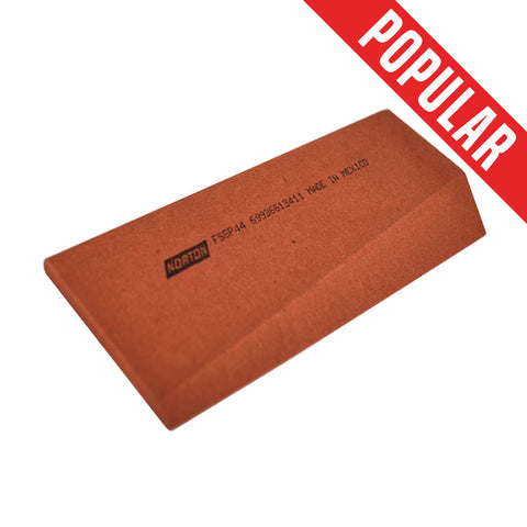 Sharpening Slip Stone, Fine Grit Red India