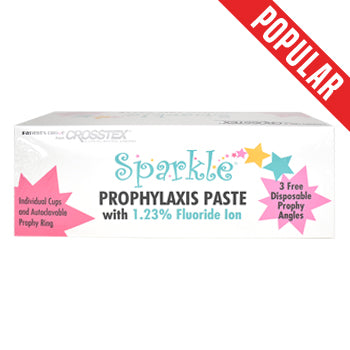 Sparkle Prophy Paste with 1.23% Fluoride, Fine Bubble Gum, 200 cups/box