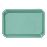 "Shop online at Serona.ca for the veterinary dental Zirc Mini Antimicrobial Flat Tray, available in a variety of colours. Dimensions: 9-3/8"" x 6-3/8"" x 7/8""."