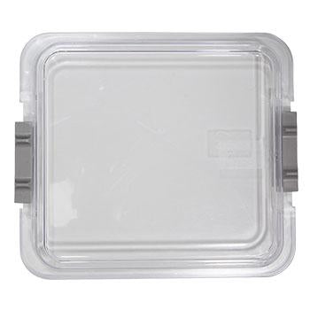 "Shop online at Serona.ca for the veterinary dental Zirc Procedure Tub Tray Cover, which is clear as well as locking. Dimensions: 12-5/8"" x 11-1/4"" x 1-7/16""."