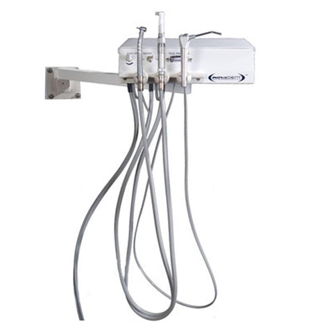 Shop online for the veterinary dental Inovadent Arm/Wall Mount Dental Work Station. All wall mounted units come with high-speed & low-speed handpieces, & more!