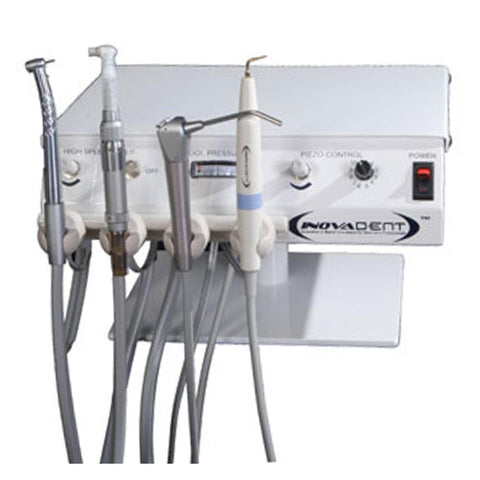 Shop online for the veterinary dental Inovadent HS4 Dental Work Station, which operates using different configurations of a remote compressor or nitrogen tank.
