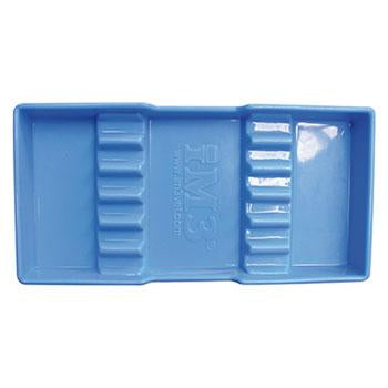 "Shop online for the veterinary dental iM3 Small Autoclavable Instrument Tray. Small, blue plastic tray with dividers. Dimensions: 95mm x 195mm (3 ¾"" x 7 ¾"")."