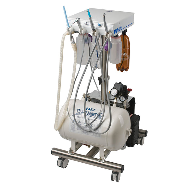 Shop online for the veterinary iM3 Elite LED Dental Cart. The iM3 Elite comes with autoclavable/sterile Suction, a 3-way syringe (air, water, & mist), and more!