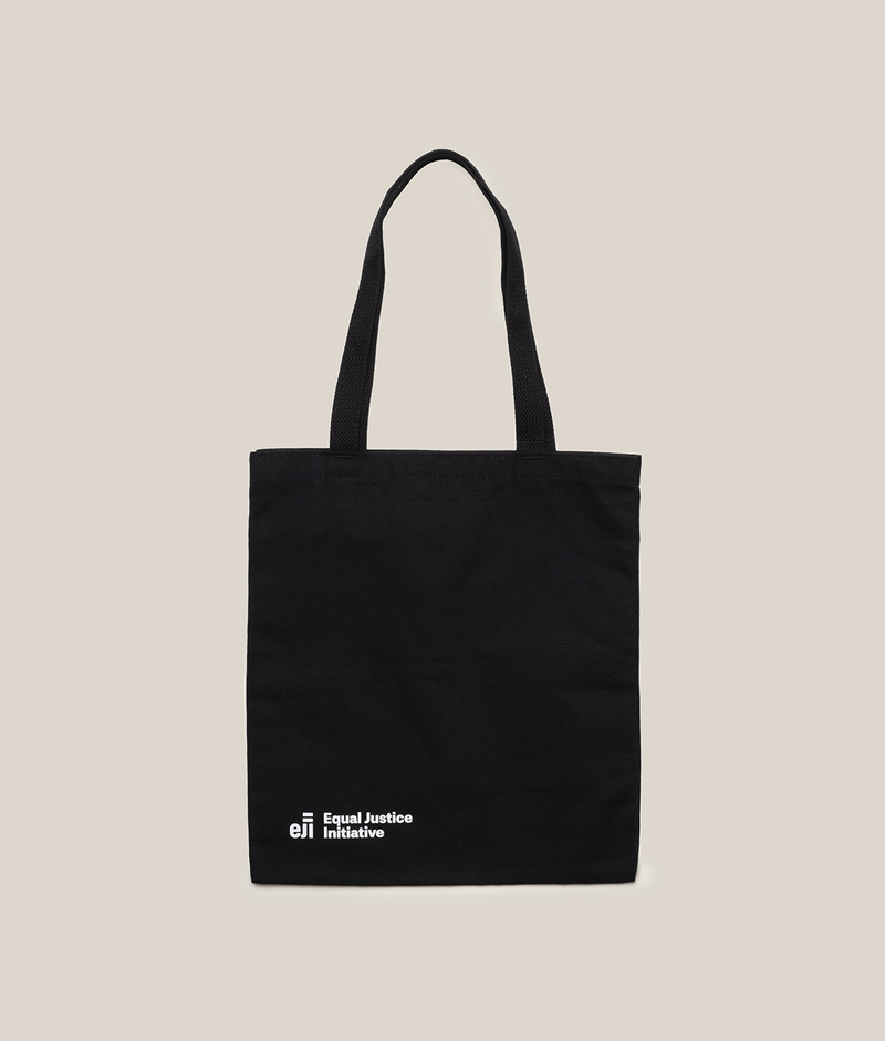 "Black Tote Bag - Bryan Stevenson ""Each of us..."""