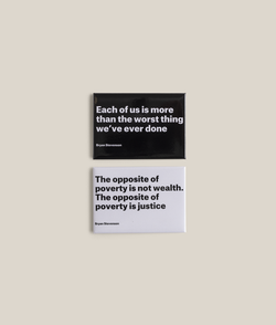 Bryan Stevenson Quote Magnet Set