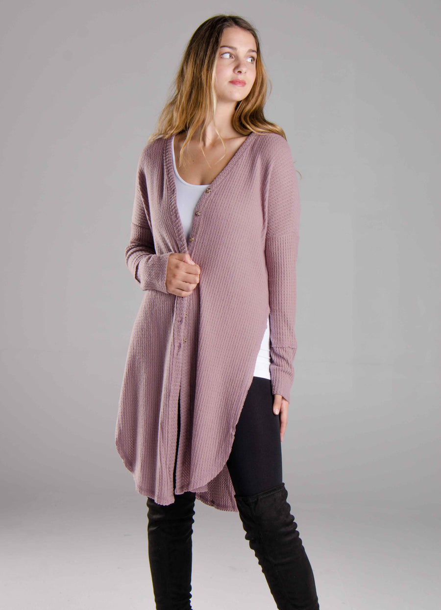 Headed Out Cardigan Mauve