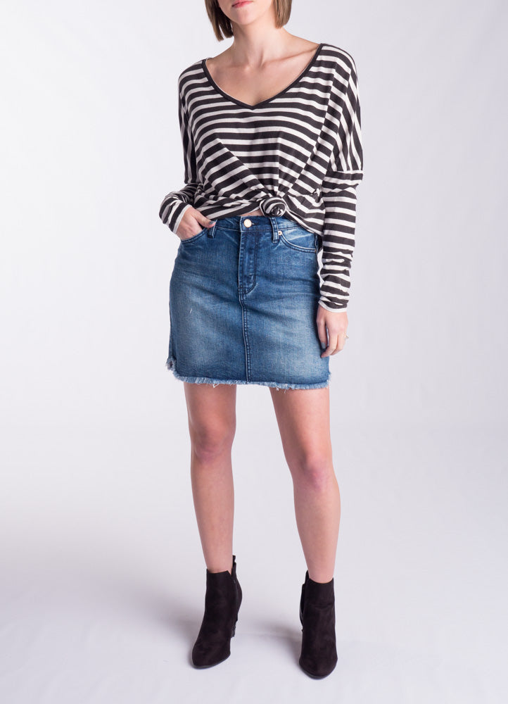Fray Skirt - Denim
