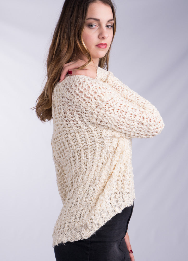 Ivory Zip Back Sweater