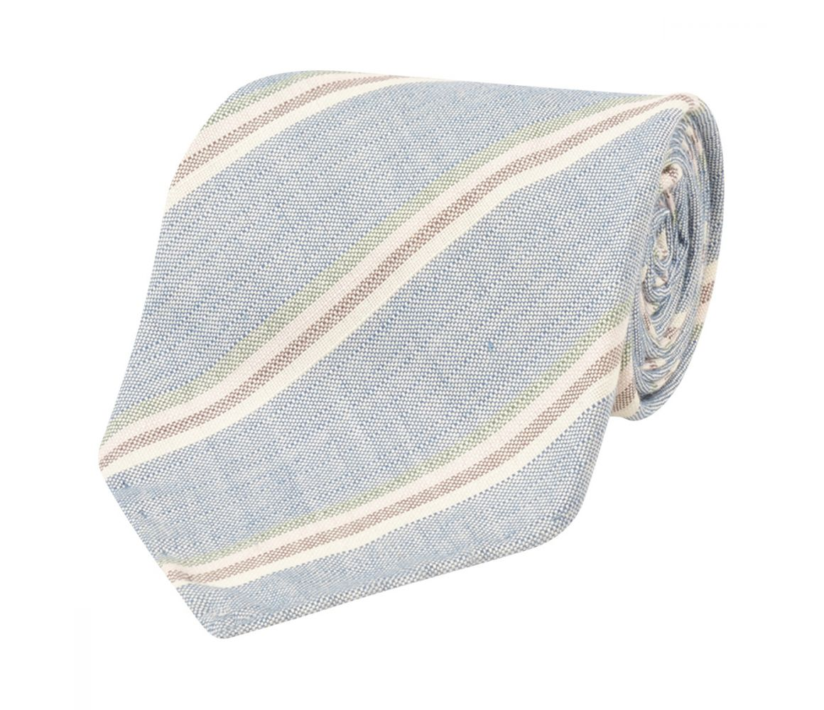 FERGUS BLUE STRIPE MADE-TO-ORDER SILK TIE