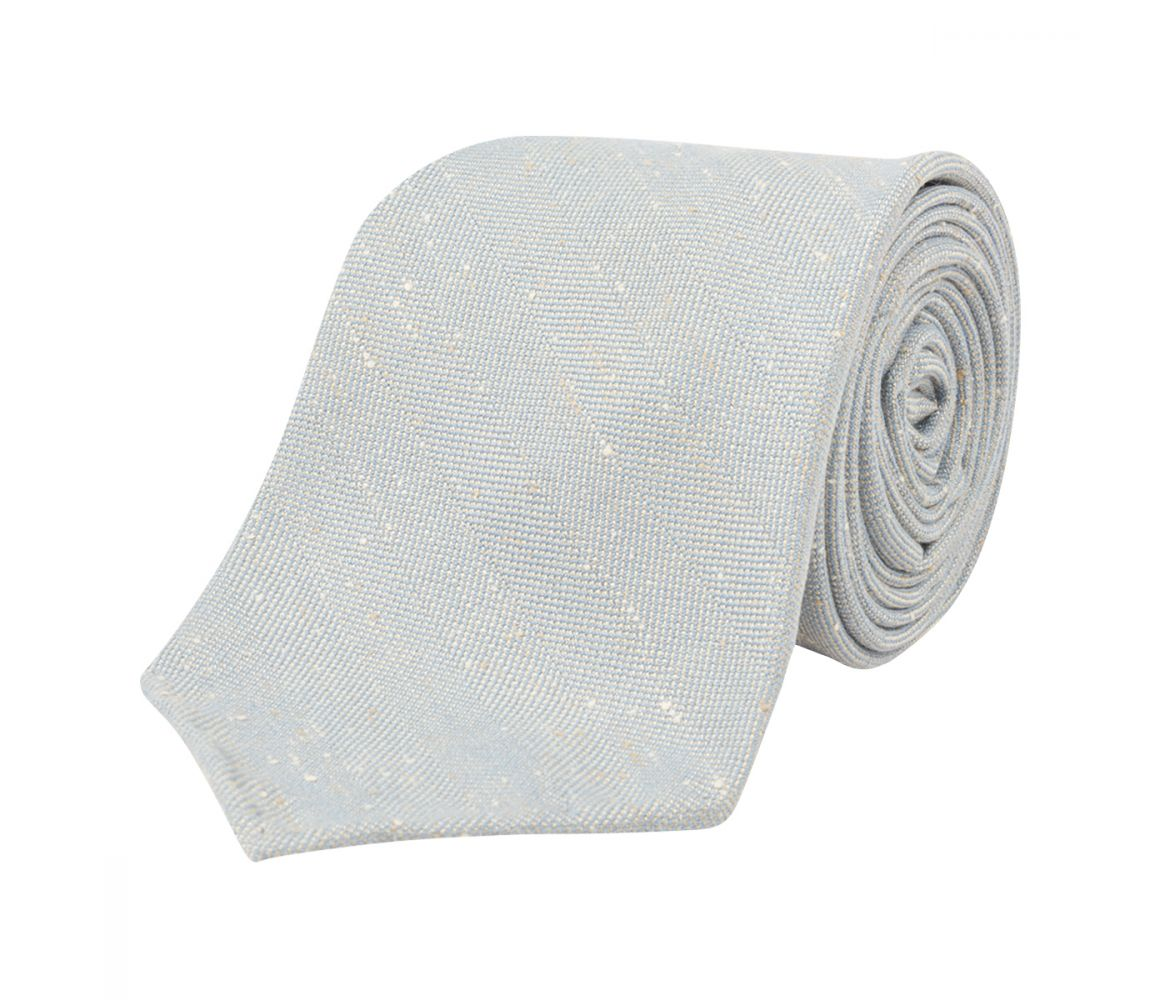CLEMENT BLUE MADE-TO-ORDER LINEN TIE