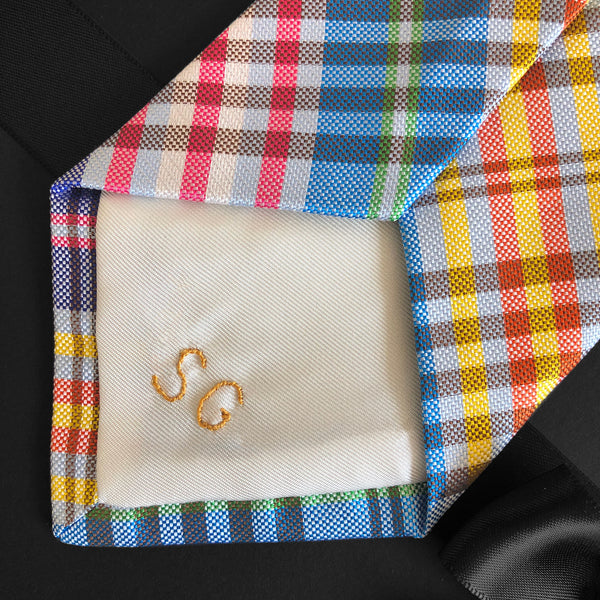 Shaun Gordon Bespoke Silk Neckties With Hand Monograms
