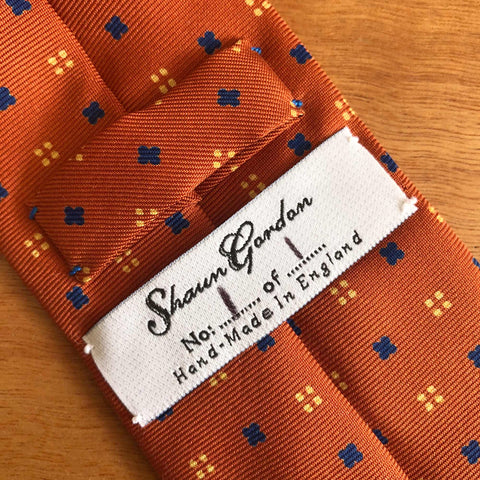 1 of 1 Shaun Gordon British Handmade Silk Necktie