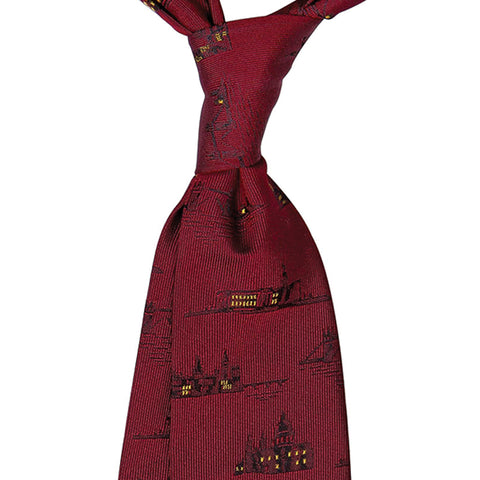 Shaun Gordon Mr. London Burgundy Red Silk Handmade Tie