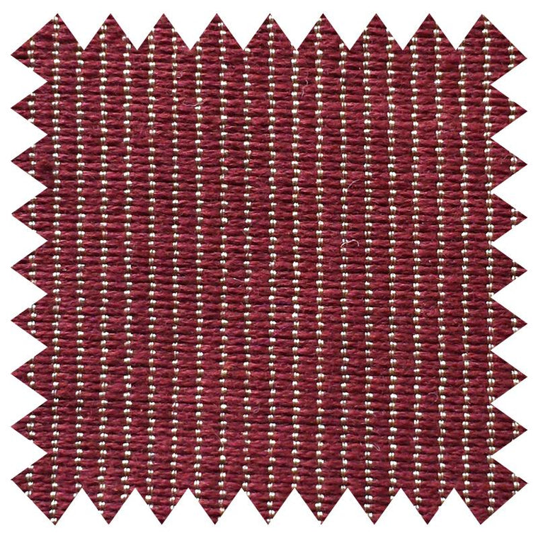 001 BURGUNDY AND PALE GOLD FINE STRIPE SILK COTTON BLEND