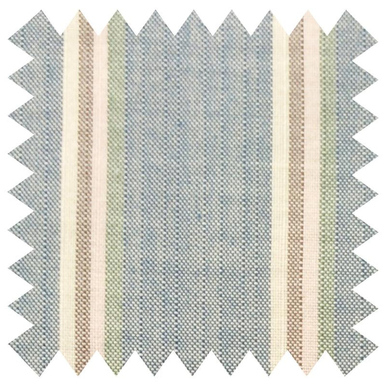 003 LIGHT BLUE STRIPES SILK FABRIC