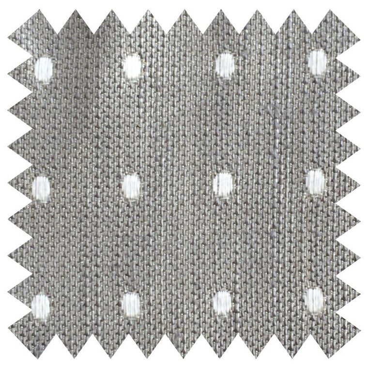 007 GREY AND WHITE SPOTS SILK FABRIC