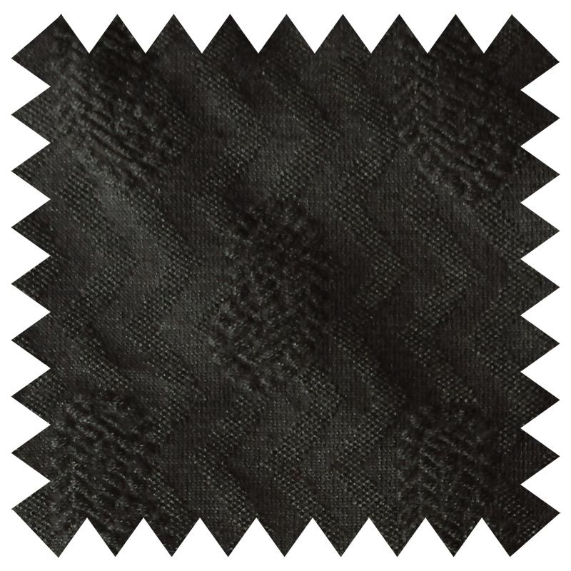SHAUN GORDON BLACK PAISLEY AND ZIG-ZAG PATTERN FABRIC