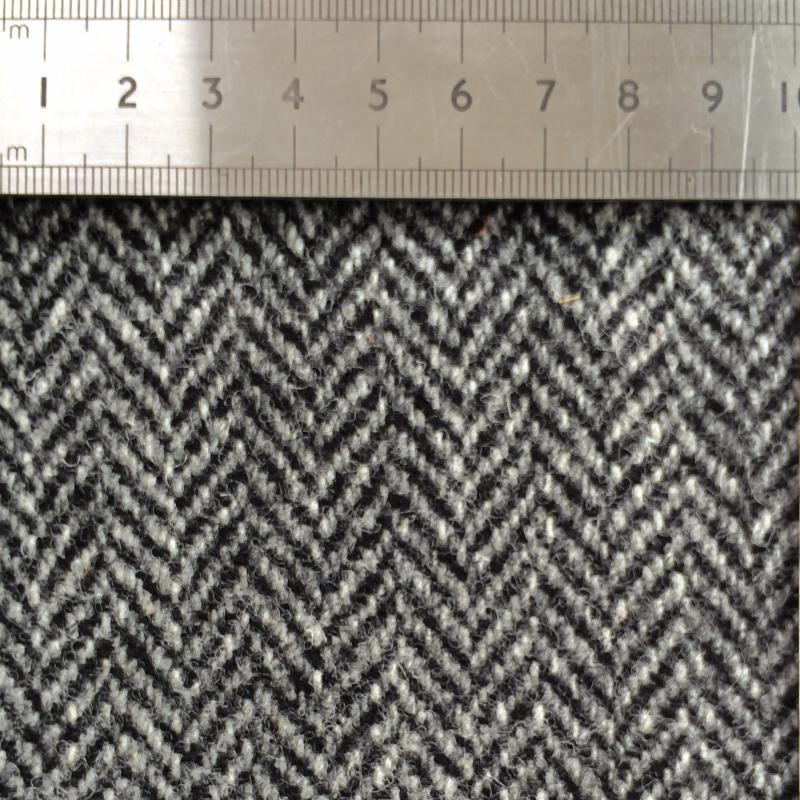 011 GREY HERRINGBONE WOOL FABRIC Made To Order Fabrics Shaun Gordon