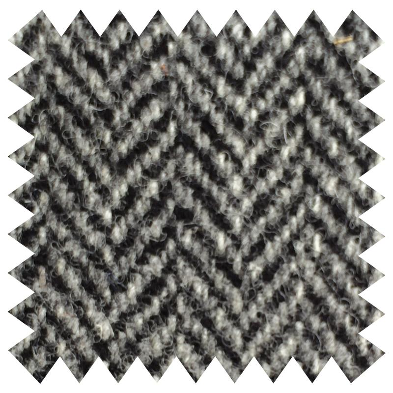 SHAUN GORDON GREY HERRINGBONE WOOL FABRIC